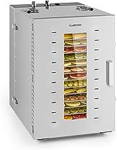 Klarstein Master Jerky 16 - Déshydrateur, 1500W, température réglable en continu de 40-90 °C, minuterie 15h, DigiSet Contr...