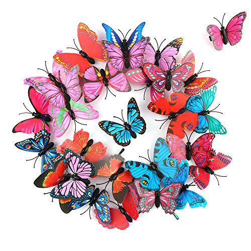 Schmetterling Haarspangen 28 Stück Mädchen 3D Funkeln Haarspangen Schmetterling Baby Haarspange für Mädchen Damen Hochzeit Haarschmuck