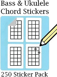 WhirlWindPress.ca Ukulele Chord & Tablature Stickers Set (250 Sticker Pack) Super Handy!