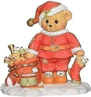 Roman Cherished Teddies 3.75 Inches Chris Santa Teddie Figurine