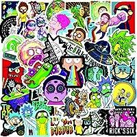 YLGG 100 Pegatinas de Graffiti Impermeables de Rick y Morty para portátiles, monopatines, Maletas, Cascos, teléfonos móviles, Motos, etc.