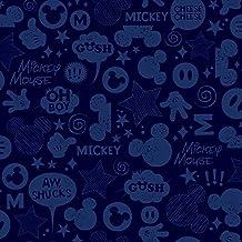 ورق حائط والت ديزني كيدز 2 من يورك وولكفيرتينجز، عينة من مذكرة ورق الجدران المتحركة، 20.3 سم × 25.4 سم، أزرق داكن/أزرق داكن