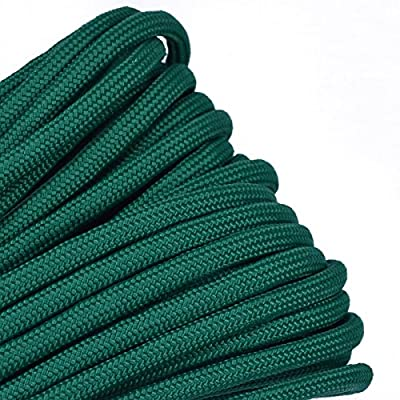 Solid Colors Paracord - Type III Parachute Cord - Kelly Green - 50 Feet
