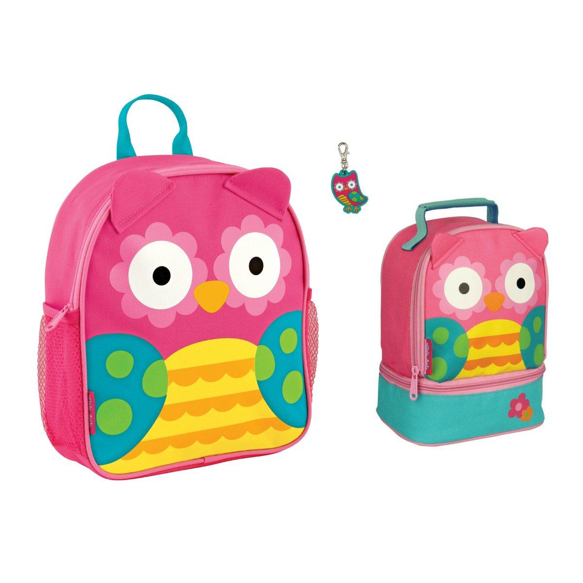 Stephen Joseph Girls Mini Owl Backpack, Lunch Pal and Zipper Pull