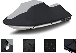 Super Heavy-Duty PWC 600D Jet SKI Cover for Sea Doo Sea-Doo Bombardier GTS 1990-2000, GTX 1992-1995 Jet Ski Cover Black/Grey