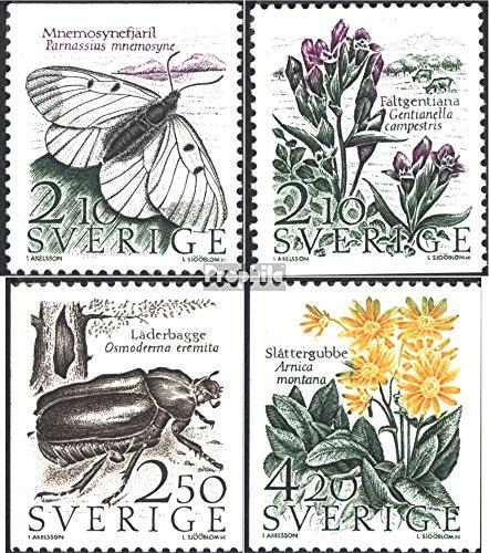 Sverige Mi.-nummer: 1423-1426 (komplett. utgåva.) 1987 Bevarande (frimärken för samlare) fjärilar