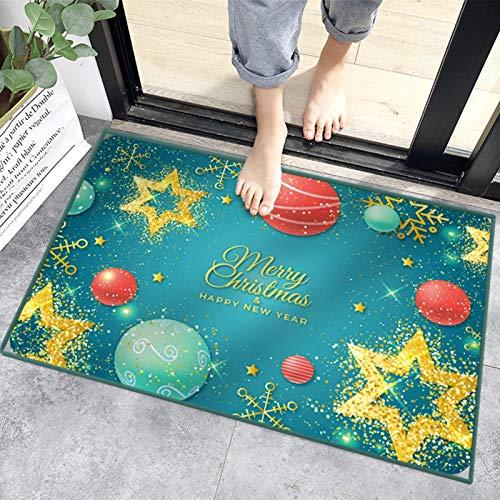 Sunshine smile alfombras de Piso,Anti Slip Baño Alfombras,Welcome Felpudo de Puerta,Tapete de Puerta Navidad con Temas,los Estera (C)