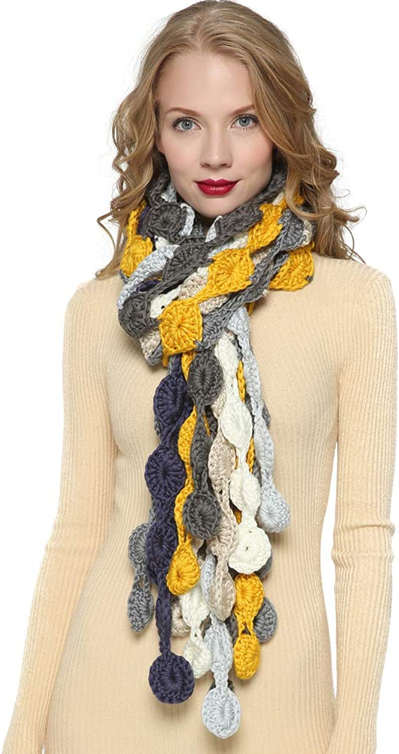 ZORJAR Scarfs for Women Knitted Winter Fashion Scarves colorful Circle Design
