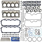 New Cylinder Head Gasket Set w/ Fel-Pro PermaTorque MLS Head Gaskets (18mm) & RTV Silicone for Ford 6.0L Power Stroke Diesel Turbo F-250 F-350 F-450 F-550 E350 E450 Super Duty 03-10
