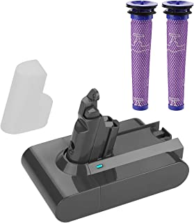 ANTRobut Replacement Dyson Battery 3800mAh 21.6V Dyson V6 Battery Compatible for Dyson V6 595 650 770 880 DC58 DC59 DC61 DC62 Handheld Vacuum dc59 Dyson dc62 Battery (with Dyson Filters)