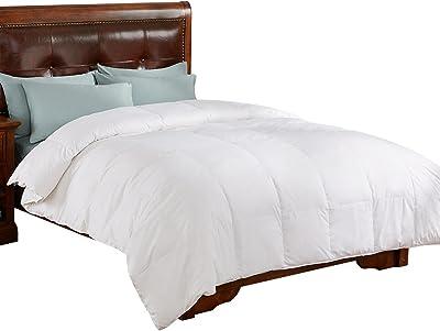 PEACE NEST All Season White Down Comforter/Duvet Insert, 100% Cotton Cover, White, Full/Queen Size