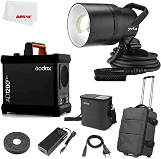 Godox AD1200Pro AD1200 Pro 1200Ws 2.4G TTL 1/8000 HSS 40W Modeling Light Outdoor Flash Light Strobe Monolight Battery Flas...