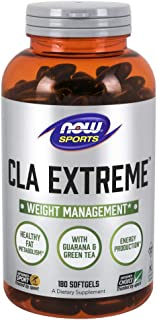 NOW Sports Nutrition, CLA Extreme (Conjugated Linoleic Acid) With Guarana & Green Tea, 180 Softgels