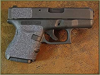 Sand Paper Pistol Grips Peel and Stick Grip Enhancements for The Glock Sub-Compact Models: 26, 27, 28, 33, 39