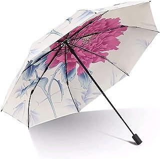 Adesign Parapluie de Voyage Pliante, Poignée Ergonomique Ouverte et Fermeture Automatique, Parapluie légère Mince Portable...