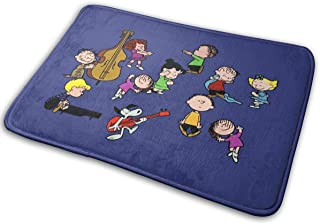 Ooiilpe A Charlie Brown Christmas Dance Super Absorbent Mat Interior and Exterior Decorative Carpet Doormat Bathroom 40x60
