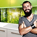 StickerProfis Küchenrückwand selbstklebend Pro Wald 60 x 400cm DIY - Do It Yourself PVC Spritzschutz