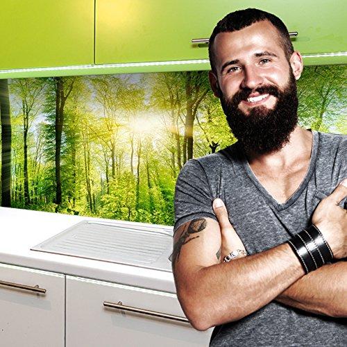 StickerProfis Küchenrückwand selbstklebend Pro Wald 60 x 60cm DIY - Do It Yourself PVC Spritzschutz