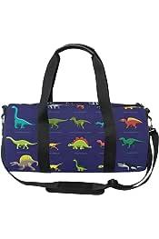 KLing Cord/ón Mochila Deportiva Colorido Dinosaurios Patr/ón de Fondo Hombres y Mujeres Yoga Baile Bolsas de Viaje