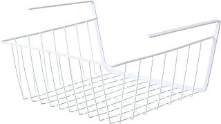 YOHAPPY - Cesta de almacenamiento para debajo de estantes, estante de metal, cesta de almacenamiento colgante para cocina, oficina, despensa, baño, armario