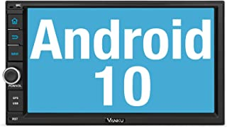 Vanku Android 10 Autoradio Radio mit Navi Unterstützt Qualcomm Bluetooth 5.0 DAB + WiFi 4G Android Auto USB MicroSD 2 Din 7 Zoll Bildschirm