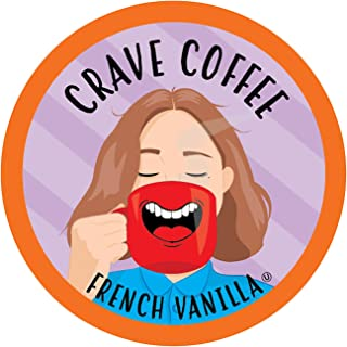 Crave Coffee Flavored Coffee Pods Compatible with 2 K-Cup Brewers, French Vanilla, 40 Count