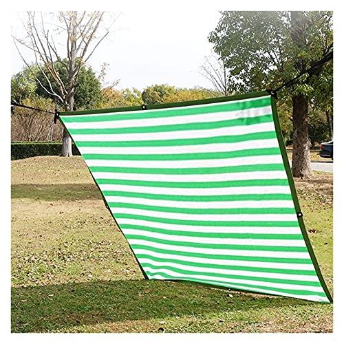 2X4m Invernadero de protección solar Toldo de Vela for Patio / toldo / Cubra las ventanas del rectángulo malla pabellón con los ojales 90% de protección ultravioleta pantalla valla de privacidad rayas