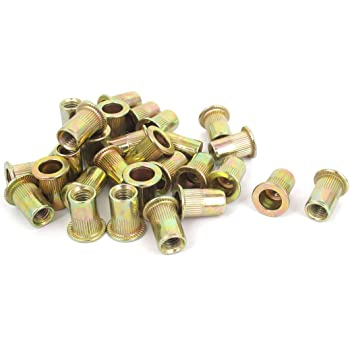 Pack of 50 Uxcell a15121600ux0033 M6 Thread Aluminum Rivet Nut Insert Nutsert 50pcs