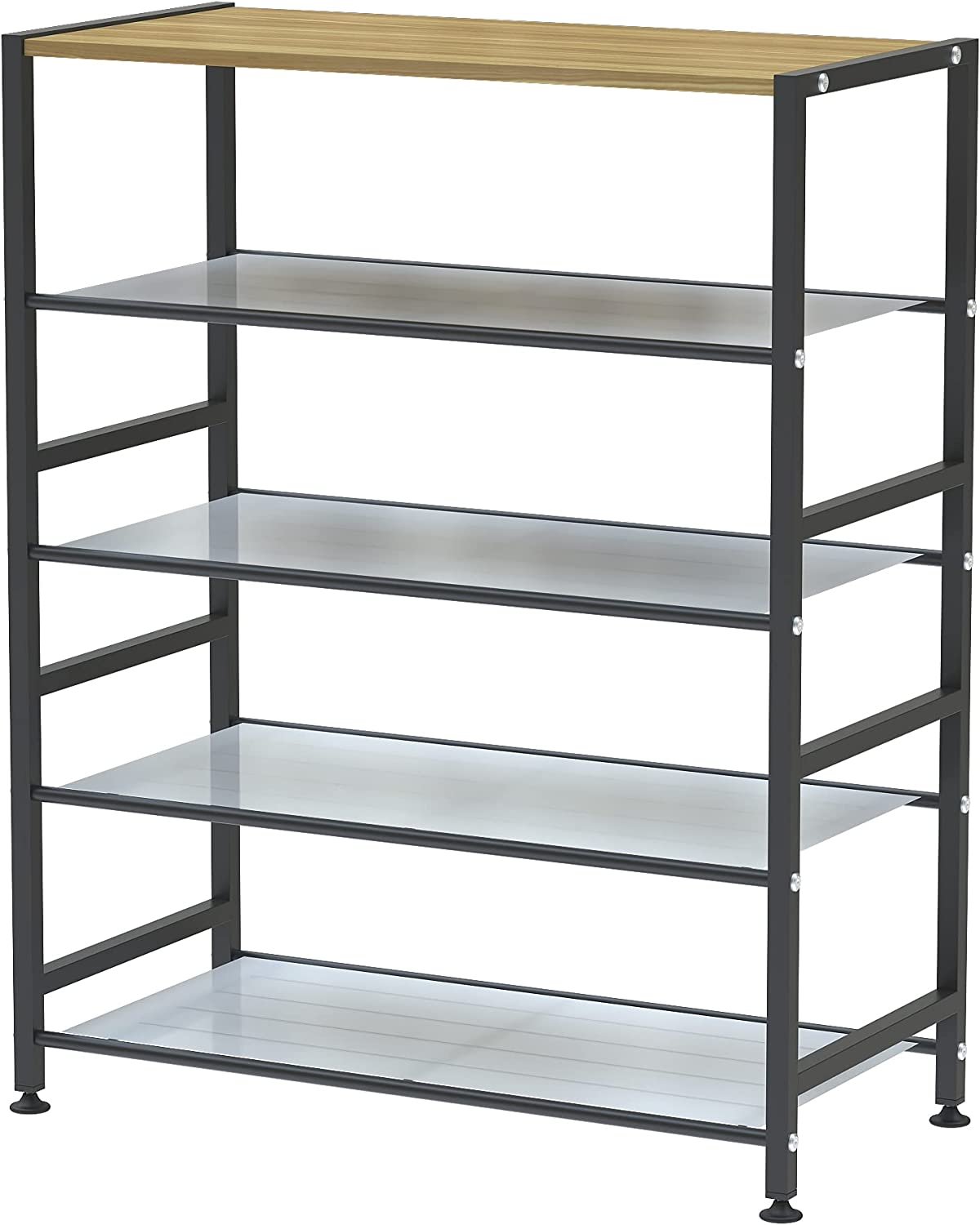 AHMED Shoe Rack 5-Tier Metal with Board MDF Purchase 4 and Sales Top