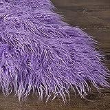 LPLND Calidad Tela de Piel sintética Tela de Felpa Material de Piel sintética de Pelo Largo Tela mullida para Disfraces, alfombras de Moda, Accesorios, Fondos para decoración de sillas(Color:Púrpura)