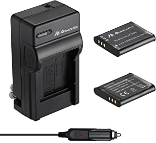 Powerextra 2 Pack Battery and Charger Compatible With Olympus LI-50B and Olympus SZ-15, SZ-16 iHS, Tough 6000, 6020, 8000, TG-630 iHS, TG-820 iHS, TG-830 iHS, TG-850, TG-870, VR-340, VR-370, XZ-1