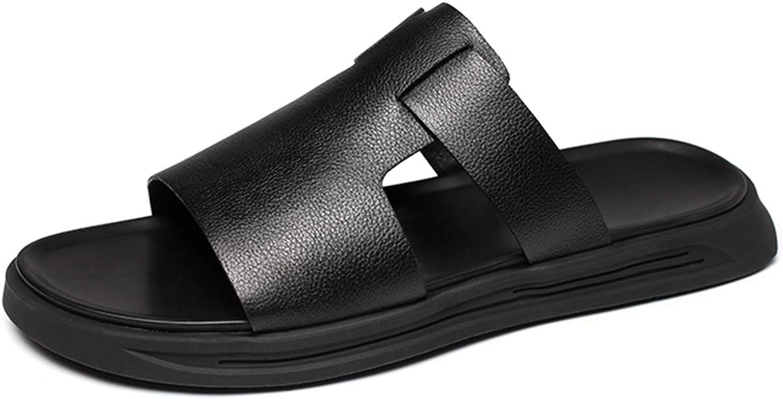 Jockbinltd Jockbinltd Jockbinltd män mode strand Casual Sandal Luxury Slippers Man skor Concise Flat män Cowhide läder Slippers Sandaler svart  förstklassig kvalitet