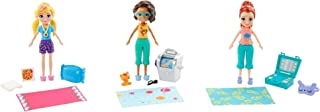Polly Pocket Girls' Night In Fun Pack Accessory Set featuring 3-inch Polly, Shani and Lila Dolls Plus Fashions and Sleepov...