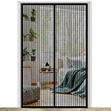 HOPYNEE Magnetic Screen Door, Heavy Duty Mesh, Keeps Bugs Out, Frame Hook & Loop, Hands Free, Fits Doors up to 37 x 82 Inches