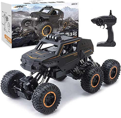 PETRLOY 6WD Monster Racing Truck 1 12 Scale High-Speed-Elektro-Fernbedienung Off-Road-Kletterfahrzeug High-Speed-Telecar Off-Road-RC-Auto 2,4 GHz Radio 20MPH Autos RTR Brushed Big Foot