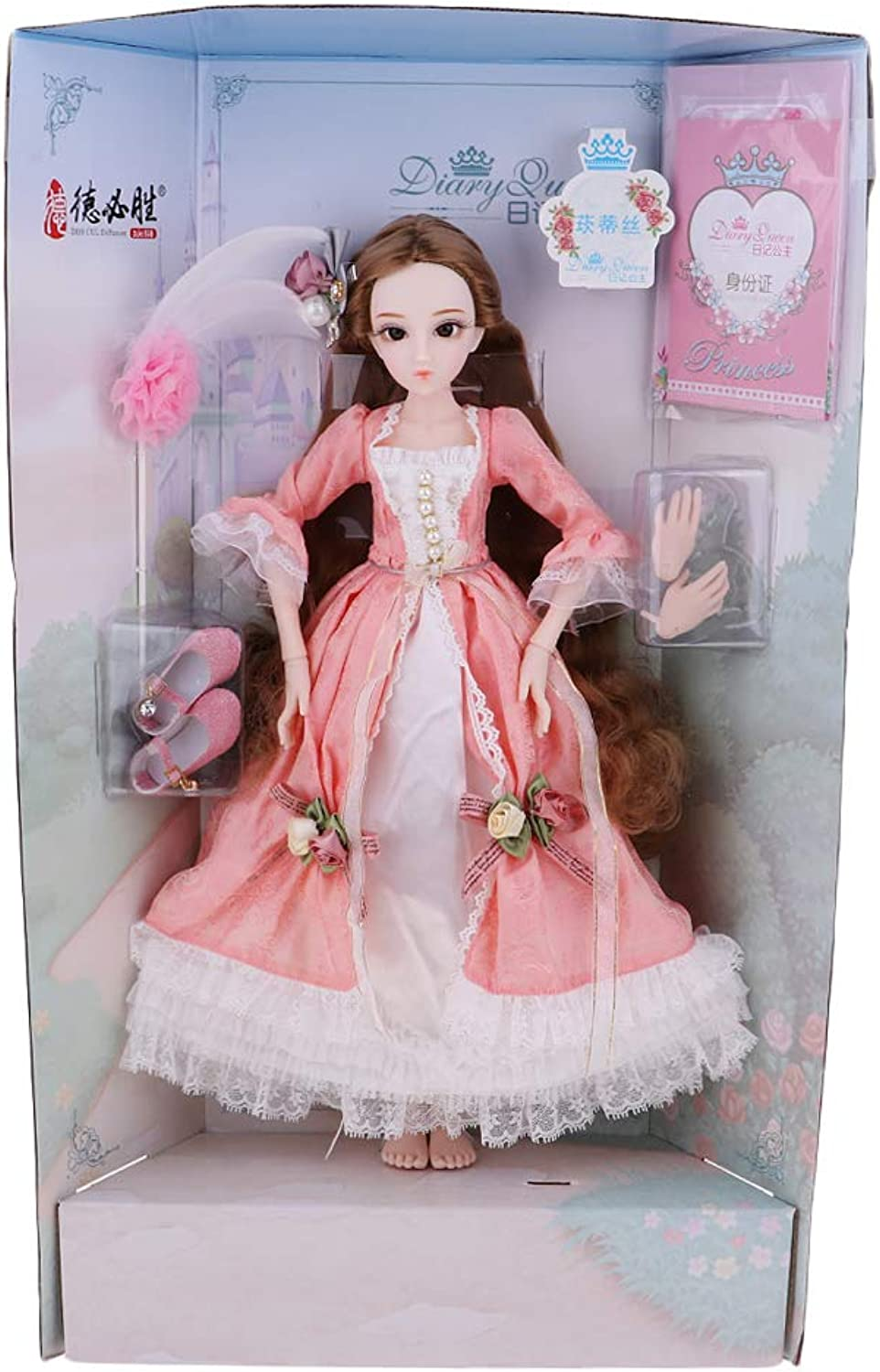 KESOTO 1 4 Fashion Princess Dolls in Beautiful Dress with Long Hair Model Beauty Doll for Girls Gift  1