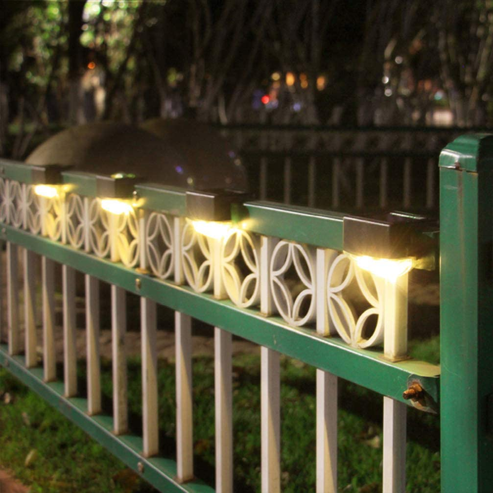 Uonlytech Solar Fence Lights OFFicial store Waterproof Max 71% OFF Deck Light Outdoor