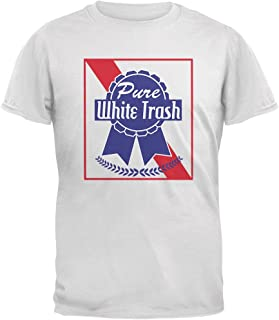 Old Glory Pure White Trash White Adult T-Shirt