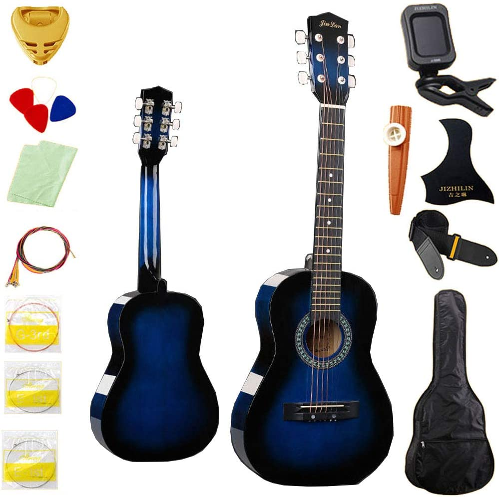 MSHK Guitarra Acústica Clásica De Estilo Español con Cuerdas Paquete De Guitarra Acústica con Correas Tipo Mochila Y Bolsillo para Partituras/Accesorios,G