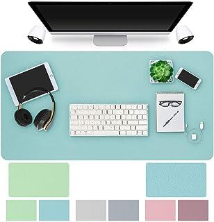 マウスパッド 大型 ゲーミング デスクマット 学習機 PUレザー 両面使用可能 大型マウスパッド おしゃれ 傷防止 防水 滑り止め オフィス・ホーム用 80 cm x 40 cm YIJIAOYUN (グリーン/ブルー)