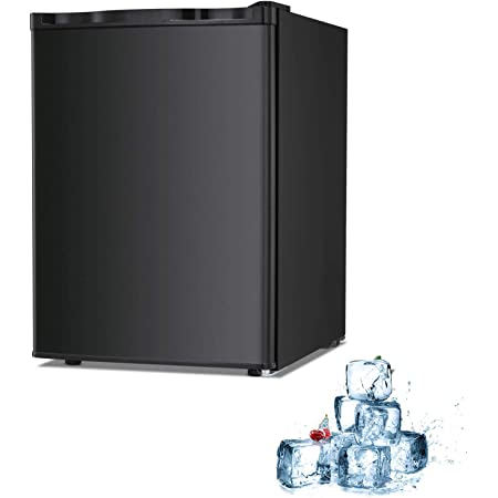 Electactic Mini Freezer Countertop 2.1 Cu.ft Small Freezer Upright Black Compact Upright Freezer with Reversible Single Door,Removable Shelves Free Standing Mini Freezer with Adjustable Thermostat