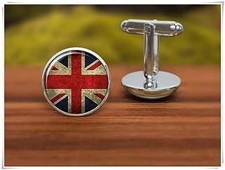 Gemelos con la bandera británica de la familia We are Forever Family, Gemelos de bandera de Reino Unido, simbólico nacional