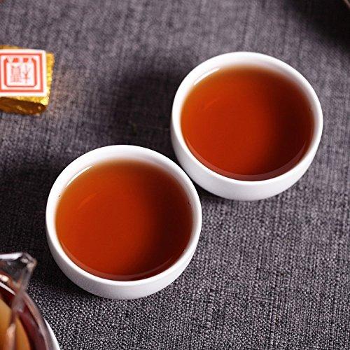 云南滇迈科技有限公司 守一轩云南普洱茶小金砖 普洱熟茶小沱茶 2003普洱熟砖皮桶普洱750g