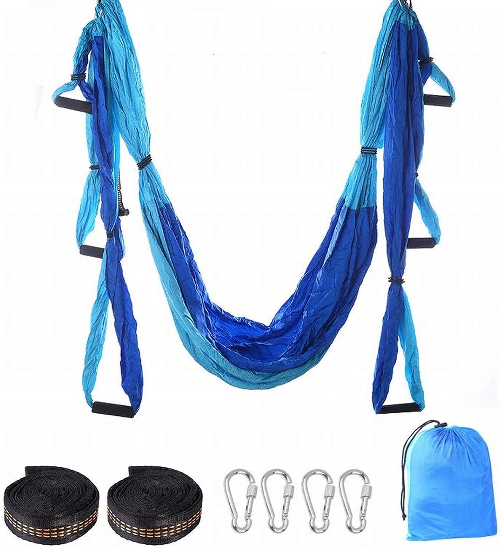 Ovesuxle Yoga Studio Aerial Yoga Hngematte Double Spell Blau Home Stretch Gurtschlinge elastisch verbreiterte Yoga Hngematte (Farbe   1)