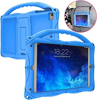 Kids Case for iPad Mini 5 4 3 2 1, Adocham Lightweight andFull-Body Shockproof Silicone Case Cover with Built-in Foldable Kickstand and Grip Handle for iPad Mini,Comes with a Strap(Blue)