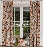 "McAlister Textiles - Cortinas Renoir, Color Naranja, Cinta de Fruncido lápiz con Forro Opaco, Rosa Naranja, 228cm(w) x 228cm(d) (90"" x 90"")"