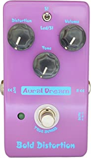 Aural Dream Bold Distortion Guitar Effects Pedal with Heavy Distortion and High-Gain of Powerful Dynamic Response for 2 modes Distortion,True Bypass