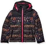 ROXY Snow Big Delski Girl Jacket, True Black ALBAMA Border, 12/L
