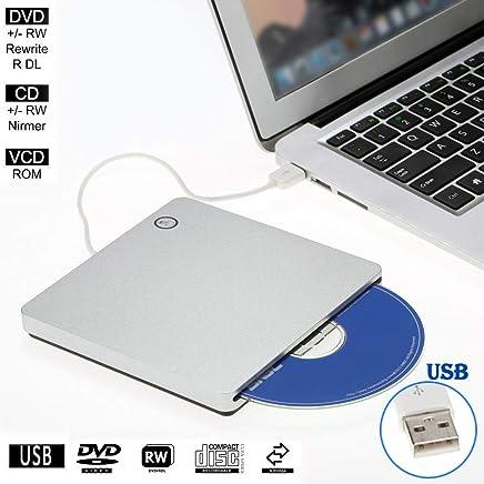 External Slot-in Drive Writer USB 2.0 Portable Ultra Slim CD DVD ROM Player Burner