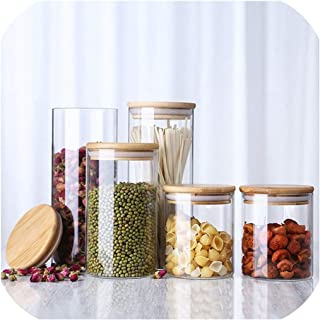 Transparent High Borosilicate Glass Kitchen Storage Bottle Store Food Ingredient Candy Biscuit Storage Jar Home Organization,Australia,6.5X10Cm